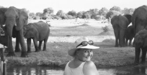 Mel on safari in Botswana
